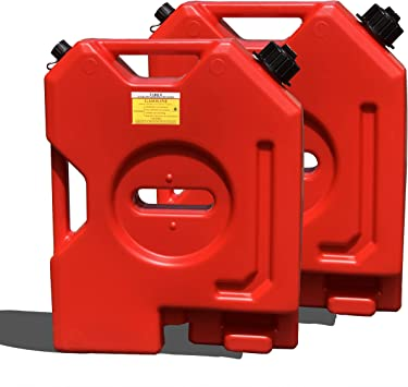 TARKII 2-Gallon Gasoline Container, Red Fuel Can for Vehicles,Portable Gas Tank with 2G Capacity (2 pcs, Red): image