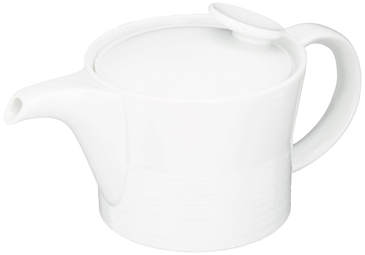 切る揺れる好む白山陶器 ミストホワイト ポット(400ml)