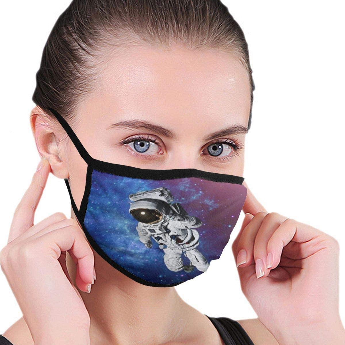 LANJYF 2 Packs Dust Mouth Guard, Astronaut Space Planet Galaxy Unisex Cotton Face Cloth
