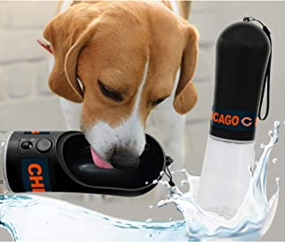 DOG Water Bottle. NFL CHICAGO BEARS PET WATER BOTTLE. BEST Cat Water Bottle. Water Fountain Dispenser for DOGS & CATS.