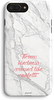 Compatible with iPhone 6,Pink Quotes Life Quotes Throw Kindness Around Like Confetti Trendy Chic Marble Anti Scratch & Fingerprint Girl Love Pink Case Compatible for iPhone 6/iPhone 6s