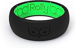 Rolly Anillo de Boda de Silicona para Hombres y Mujers de 8mm de Ancho, Seguro, Flexible, Duradero, Goma de Calidad Inigua...