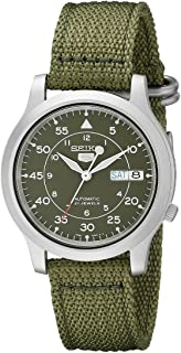 Seiko Wrist Watch Mens Quartz Dress Watch, Analog and Nylon - SNK805K2