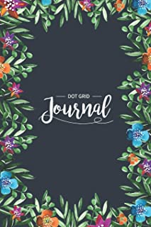 Dot Grid Journal: Pretty Bullet Planner and Notebook to Organize Floral Cover Dotted Matrix  Bullet Dot Grid Journal And S...