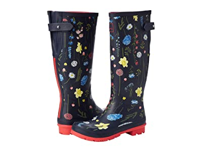 Joules Welly Print (Navy Spring Floral) Women