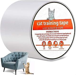Anti-Scratch Cat Training Tape, YanYoung Cat Scratch Training Deterrent Tape, 3 Inches x 30 Yards Cat Furniture Protector,...