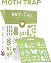 FlyAmaz Sticky Beetle Moth Traps for Clothes and Pantry (6 Packs) Child and Pet Safe Moth Balls for Repellent Outside Adhesive Tool for Closet Wool and Carpet Protection