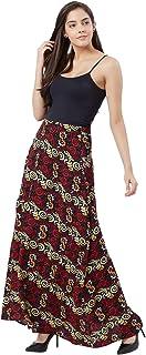 Fusion Beats Women Viscose Black Printed Skirt