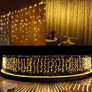 Solar String Lights, 264 LEDs Fairy Lights Waterproof, 20ft String Lights, Warm White..