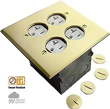 Best brass floor receptacle covers Reviews