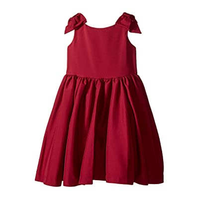 Janie and Jack Special Occasion Bow Sleeve Dress (Toddler/Little Kids/Big Kids) (Cabernet) Girl