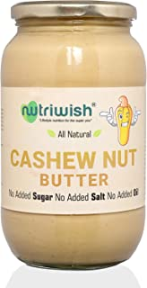 Nutriwish Cashewnut Butter Bottle, 1000 g