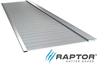 Raptor Gutter Guard   Stainless Steel Micro-Mesh, Contractor-Grade, DIY Gutter Cover. Fits Any Roof or Gutter Type – 48ft to a Box. Fits a Standard 5