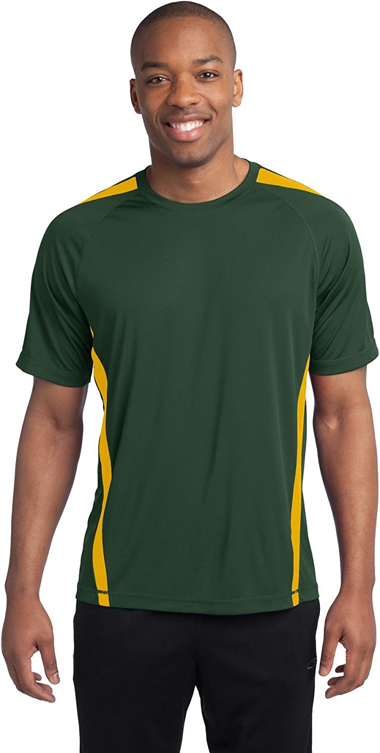 Sport-Tek Men's Tall Colorblock PosiCharge Competitor 2XLT Forest Green/ Gold