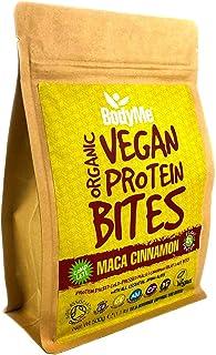BodyMe Organic Vegan Protein Bites | Raw Maca Cinnamon | 500g (100 Bites) | With 3 Plant Proteins