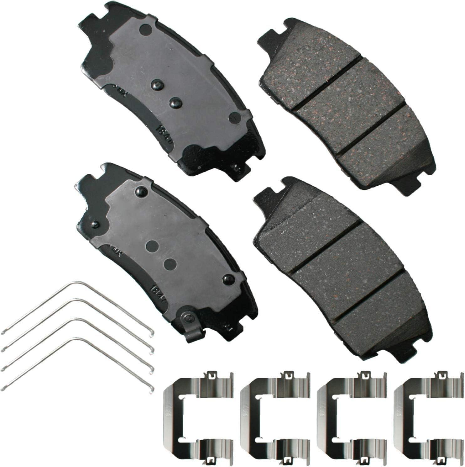 Akebono ACT1847 Ultra-Premium 安値 Ceramic 限定特価 Pads Front Disc Brake