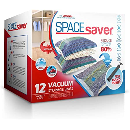 1300 x 1100mm Pack of 8 Medium Travel Vacuum Storage Bags for Clothes