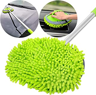GreatCool 2 in 1 Chenille Microfiber Car Wash Mop Mitt with 44.5