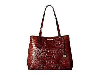 Brahmin Melbourne Medium Julian Tote (Pecan) Handbags