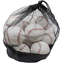 Tebery 12 Pack Standard Size Youth/Adult Baseballs Unmarked & Leather Covered Training Ball