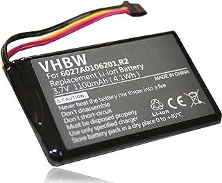 vhbw Accu geschikt voor Tomtom GO 5000, 5100, 6000, 9000 GPS navigatie navigatie (1100mAh, 3,7V, Li-Ion)