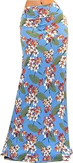 Vivicastle Women's USA Colorful Printed Fold Over Waist Long Maxi Skirt