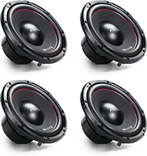 $159 » MB Quart FW-1254 Formula 10 Inch 600 Watt DVC 4 Ohm Car Audio Subwoofer, Black (4 Pack)