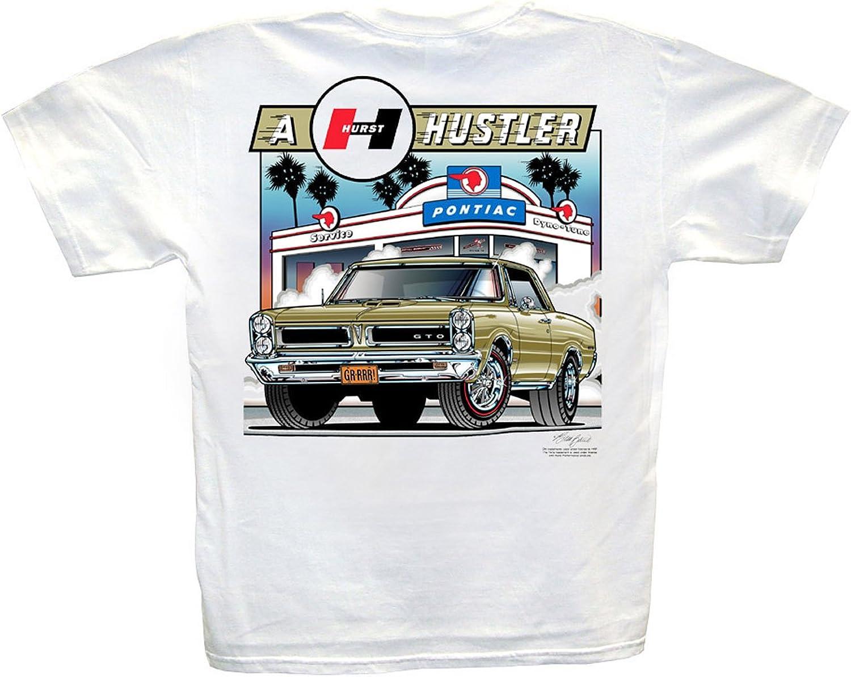 1965 Pontiac GTO Hurst Hustler T-Shirt:Wheels Shifter Royal Gasser Vintage Drag
