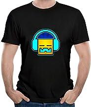 HAIZHENY Hombre Geometry Dash Logo Cotton Camiseta/T-Shirt tee