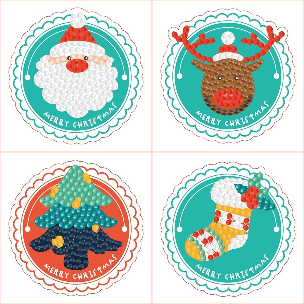 Year-end SALENEW very popular! gift 5D Diamond Painting Stickers Kits Mosaic Sticker Wall Numbers by