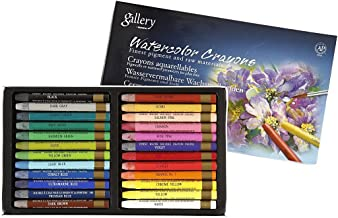 Mungyo Non-toxic Watercolors Crayons 24 Colors Assorted Set