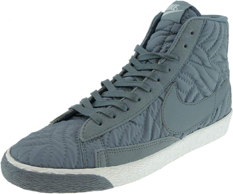 Nike kvinnor Blazer Mid PRM SE Hi Hi Hi Top Trainers 857664 skor skor (Cool grå Ivory 002)  nya märkesvaror