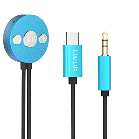 Cubilux USB C to 3.5mm Car Stereo Aux Cable with Hi-Res DAC & Microphone, Type C Audio Cable, Auxiliary Cable for Samsung Note 20 Ultra Note 10 S20, Pixel 4 3 2 XL, Moto Z3 Play Z2 Force More, 4 Feet