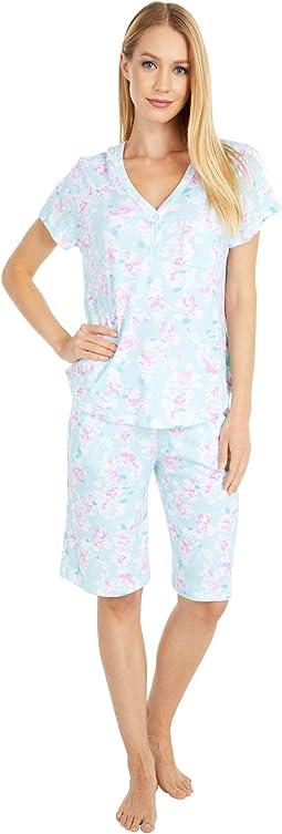 Sky and Forest Short Sleeve Bermuda Pajama