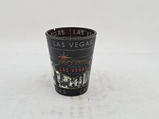 Las Vegas Nevada Grey Sky Souveniur Shot Glass - Tequila Cocktail Whisky Vodka Home Bar Party Accessory Drinkware Novelty Glassware Drinking Game Shooter Glasses