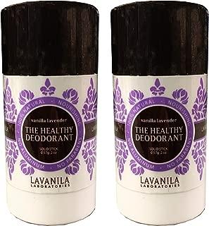 Lavanila Natural Aluminum-Free Deodorant. The Healthy Deodorant Vanilla Lavender Scent, Pack of 2