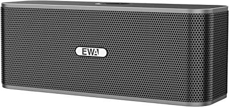 EWA W300 Bluetooth Speaker with Loud Stereo Sound, Portable Speaker for Travel, 8+ Hour Playtime, Outdoor Party Wireless Speaker, Support TF Card (Gray) �