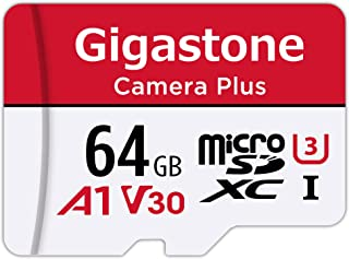 Gigastone Micro SD Card 64GB マイクロSDカード フルHD SDアダプタ付 adapter and case SDXC U1 C10 90MB/S 高速 micro sd カード Class 10 UHS-I Ful...