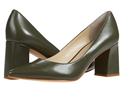 Marc Fisher LTD Zala 15 (Dark Green Leather) Women