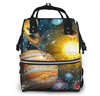 Space Solar System Multi-Function Travel Backpack Nappy Bag,Fashion Mummy Bag