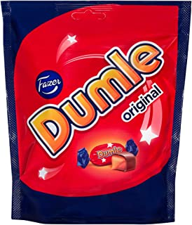 Fazer Dumle Original Finnish Milk Chocolate Soft Toffee Candy Candies Chocolates Sweets Bag