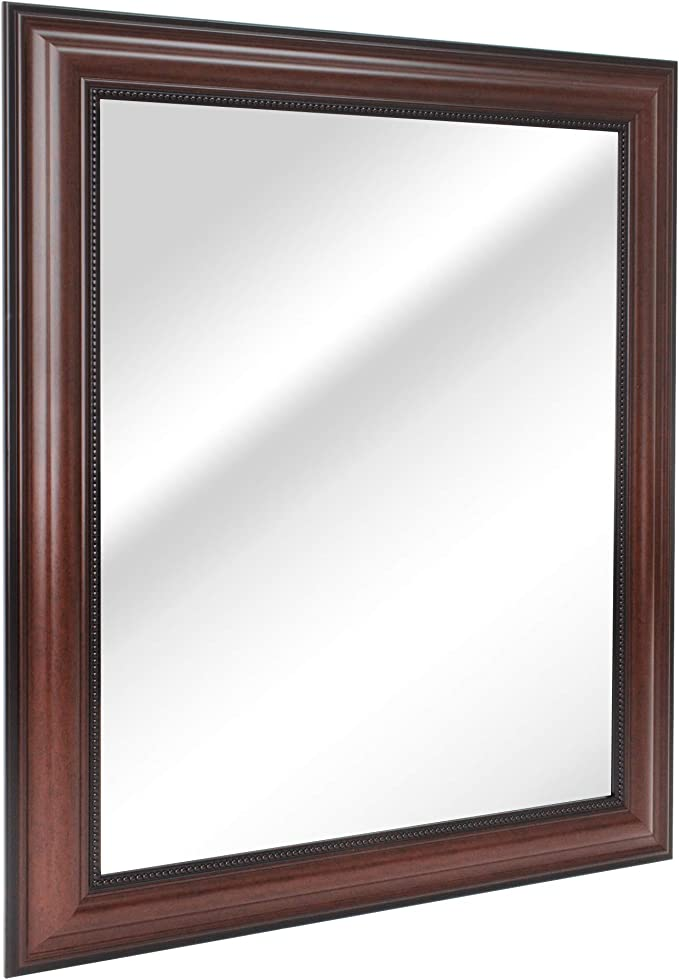Amazon Com Head West Cherry Traditional Wall Mirror 28 34 Inch Home Kitchen