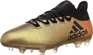 adidas  Men's X 17.2 FG Soccer Shoe, Grey/Real Coral/Core Black, 7.5 M US