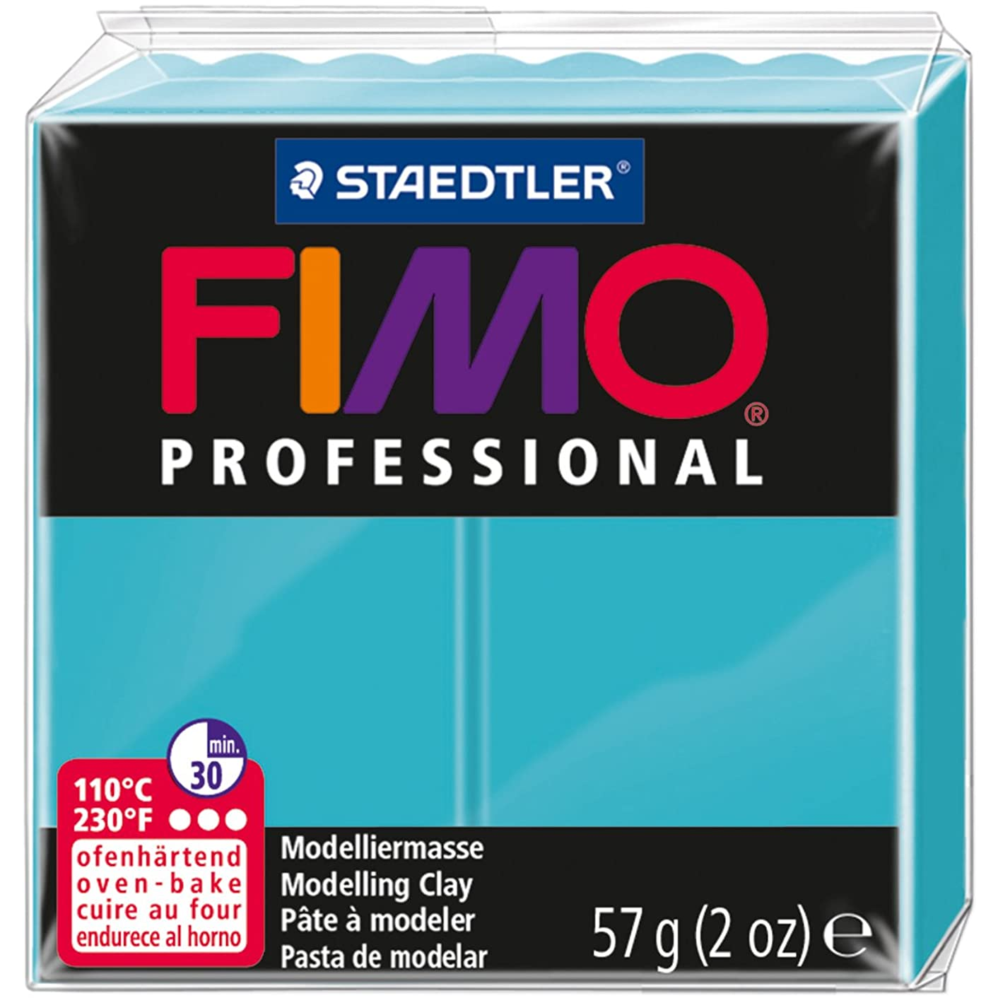 STAEDTLER Fimo Professional Soft Polymer Clay, 2 oz, Turquoise