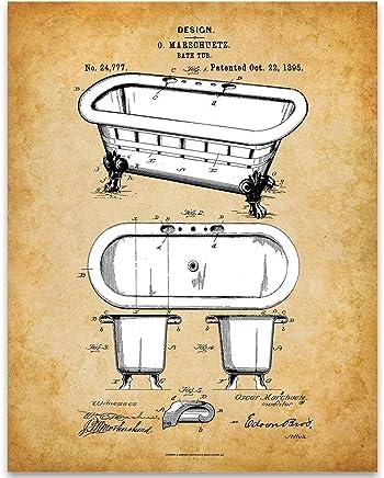Great Bathroom Decor 11x14 Unframed Patent Print Toilet Plunger