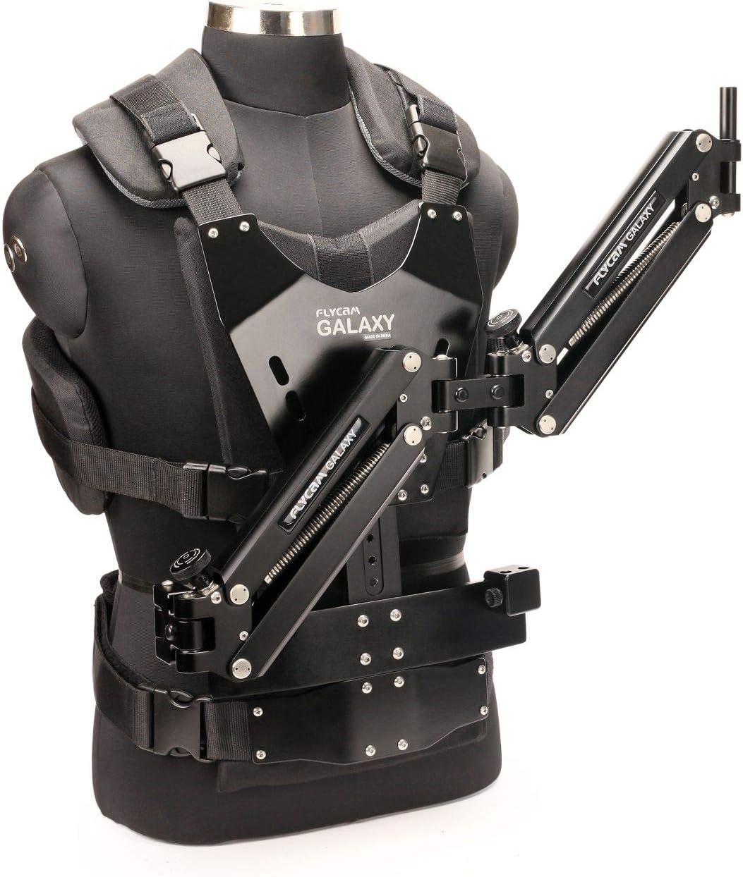 FLYCAM - Brazo dual Galaxy y chaleco Steadycam montado en el cuerpo para el estabilizador de mano para videocámara soporta hasta 10 kg (GLXY-AV)
