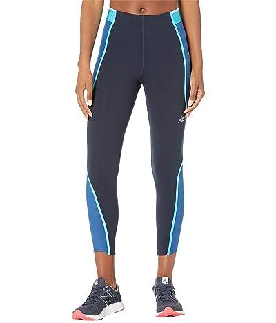 New Balance Q Speed Fuel Novelty 7/8 Tights (Captain Blue) Women