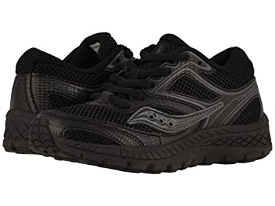 Saucony Kids Cohesion 12 LTT (Little Kid/Big Kid) (Black/Black) Boys Shoes