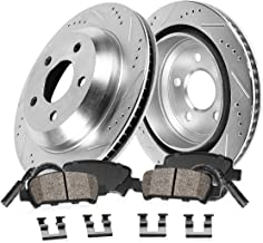 Callahan CDS02239 REAR 330.32mm D/S 5 Lug [2] Rotors + Ceramic Brake Pads + Hardware [ 528 535 Series Active Hybrid 5 ]