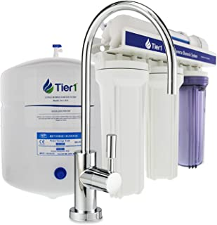Tier1 RO-5 5 Stage Reverse Osmosis Home Drinking Water Filtration System 50 GPD